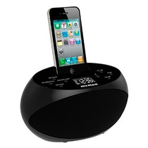 Dock Station Radio Relogio P/ Iphone 4/ 4s/ 5/ 5s/ 5c/ 6