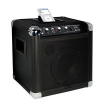 Caixa Amplificada Sem Fio Entrada Áudio Ipod Mp3 Ion Ipa17