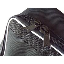 Capa Bag Para Acordeon 120 Baixos Master Luxo Vivo Branco