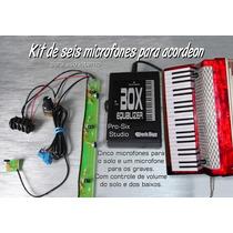 Microfone Para Acordeon Kit 6 Microfones Para O Solo E Baixo