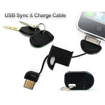 Carregador Ipads,iphones,ipods 2x1 E Chaveiro + Carregador V