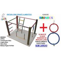 Kit Standard Calopsita Feliz Playground Colorido + Brinquedo