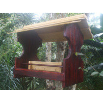Comedouro Para Pássaros Red - Marcenaria Boraceia