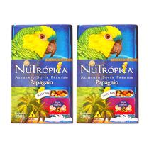 Ração Nutrópica Papagaio Frutas Hawaí Kit C/ 02 Caixas 300 G