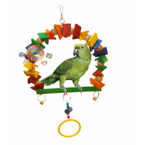 Poleiro Brinquedo Arco Argola Papagaio Calopsita P 26 X29 Cm