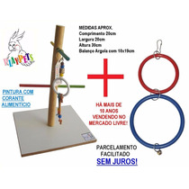 Kit Econômico Calopsita Feliz Playground Colorido+ Brinquedo