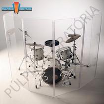 Aquário Para Bateria /percussão Em Acrílico Modelo Aq06