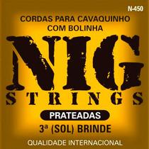 Encordoamento Cavaquinho Cavaco Nig N450 Prateado C/ Bolinha