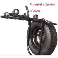 Transbike Pneu Estepe C/ Alças Rack Suporte Bicicleta Bike