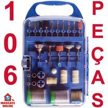 Kit Acessórios Mini Micro Retífica. Estojo Pontas Disco Lixa