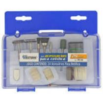 Kit Acessórios P/ Mini Micro Retífica C/ 24 Pçs E Estojo