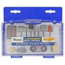 Kit Acessórios P/ Mini Micro Retífica C/ 59 Peças E Estojo