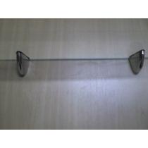 Prateleira Parede 15 X 30 C/ Suporte Mini Tucano E Vidro 4mm