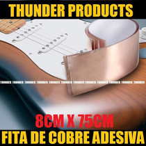 80mmx75cm Fitafolha Cobre Adesiva Blindagem P/guitarra Baixo