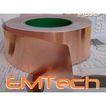 Fita De Cobre Adesiva - Blindagem De Instrumentos 3m X 5 Cm