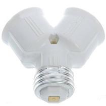 Adaptador Y Soquete E27 Para Ligar Duas Lampadas