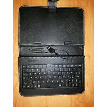 Capa Com Teclado Para Tablet 7 Polegadas