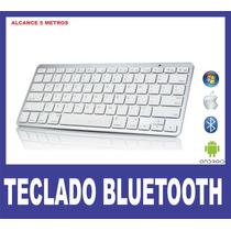 Teclado Sem Fio Bluetooth Pc, Celular Tablet - Frete Grátis