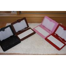 Capa Case Com Teclado Para Tablets 7 E 8 Pino V8 - Linda