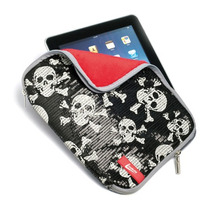 Capa Case Bolsa Protetora P/ Ipad Tablet 10 Pol Caveira 0759