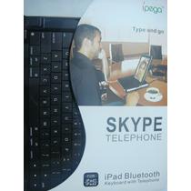 Teclado Bluetooth E Telefone Para Skype Ipad 1 E 2 / Iphone