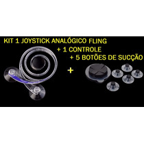 Kit Joystick Analógico + Joystick Sucçãp P/ Ipad / Tablets