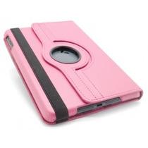 Capa Pasta Case Samsung Galaxy Tab P3100 P3110 Rosa Rotativa
