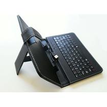 Capa Case Tablet 7 Polegadas Em Couro Sintético Com Teclado