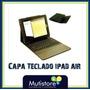 Capa Case Teclado Para Ipad Air Bluetooth Dobrável De Couro