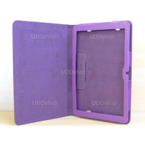 Capa Case Couro Roxa Lisa Tablet Lg G Pad V700 Android 10.1