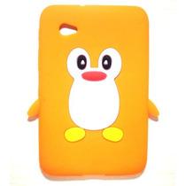Capa P/ Tablet Samsung Galaxy Tab 7 Poleg - Pinguim Silicone