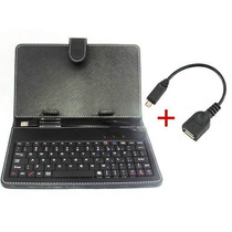 Capa Case Teclado Adaptador Usb Tablet 7 Dl Cce Phaser Asus
