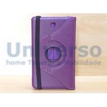 Capa Case Giratória 360º Roxa Tablet Samsung Galaxy Tab4 8 M
