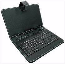 Capa Case Couro C/ Teclado Universal Executiva Usb Tablet 7