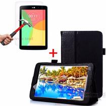 Capa Couro Lg G Pad V400 V410 Case Tablet 7 + Película Vidro