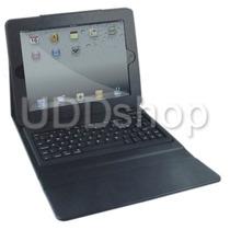 Capa Case Couro Com Teclado Bluetooth Apple Ipad 2 / 3 / 4