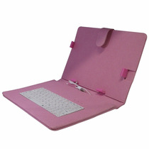 Case Capa Protetora Rosa C/ Teclado Universal Usb Tablet