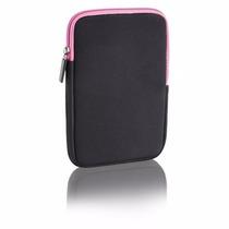 Case Neoprene P/ Tablet 7 Polegadas Multilaser Preto/rosa