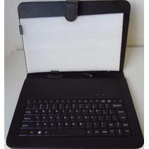 Capa Case Couro Pu C/ Teclado Usb P/ Tablet 10 E 10.1 Polega