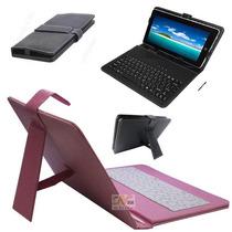 Capa Universal C/ Teclado Preto Rosa Tablet 7 Foston Genesis