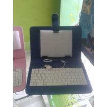 Capa Case Cores Com Teclado Usb Para Tablet 7