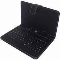 Kit Com 10 Capas De Tablet Teclado V8 Preta E Rosa