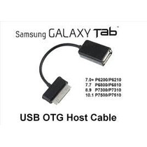 Cabo Adaptador Usb Otg Host P/ Samsung Galaxy Tablet E Note