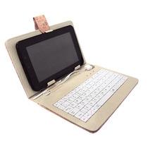 Capa Com Teclado E Caneta Para Tablet 7 Polegadas Desenhada