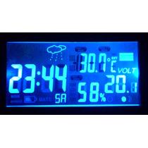 Relógio Voltímetro Termômetro Higrômetro Digital Automóvel