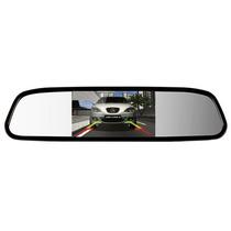 Espelho Monitor Retrovisor Com Lcd 4.3 Para Camera Ré E Dvd