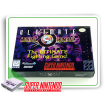 Snes Caixa Ultimate Mortal Kombat 3 Com Berço Super Nintendo
