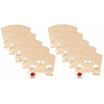 Kit 10 Cavaletes Maple Envelhecido Especial Para Violino 4/4