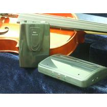 Captador E Transmissor De Violino Sem Fio Bateria Trompete