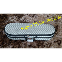 Estojo Case Violino 4/4 Meia Lua Com Higrometro Super Luxo